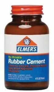 Elmer s Rubber Cement Adhesive 4 Oz Pack Of 3 e904