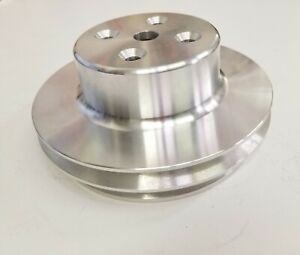 Big Block Chevy Lwp Aluminum 2 Double Groove Upper Water Pump Pulley Bbc Display