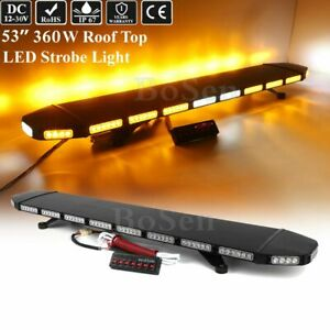 53 Amber Led Light Bar Tow Truck Roll Back Wrecker W Take Down Alley Light Bar