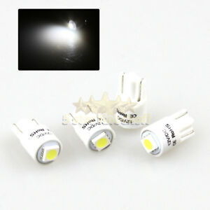 New 4 Pc 168 194 2821 W5w T10 Led Light Bulbs Replacment 1x 5050 Smd Chips White
