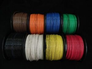 14 Gauge Thhn Wire Stranded Pick 7 Colors 100 Ft Each Thwn 600v Cable Awg