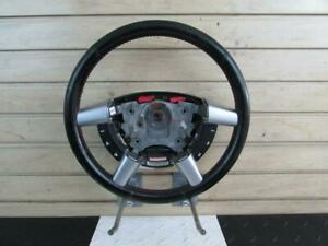 2004 Pontiac Gto Steering Wheel W Media Radio Controls Red Stitching Wear