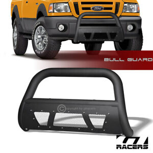 Matte Black Studded Mesh Bull Bar Brush Push Bumper Guard 1998 2011 Ford Ranger