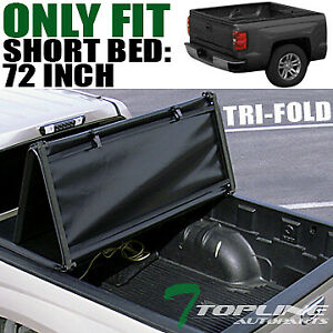 Topline For 1994 2003 Chevy S10 S15 Sonoma 6 Ft Bed Tri Fold Soft Tonneau Cover