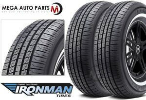 2 New Ironman Rb 12 Nws 225 70r15 100s White Wall All Season Performance Tires