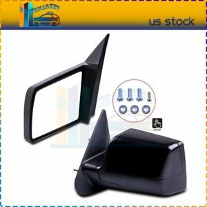 For 88 98 Gmc Chevy Pickup Truck Manual Side Mirrors Pair Set Left Lh