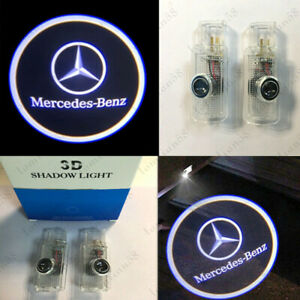 Led Car Door Welcome Projector Logo Courtesy Ghost Shadow Light For Mercedesbenz