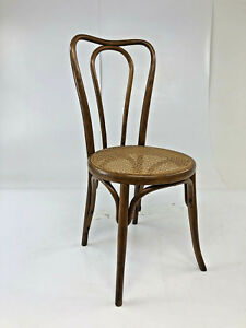Vintage Bentwood Bistro Chair Cane Bottom Bent Wood Art Deco Cafe Side 30s 40s