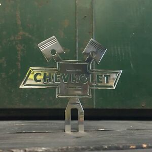 Gm Accessory Chevrolet License Plate Topper Cross Pistons Chevy Truck Low Rider
