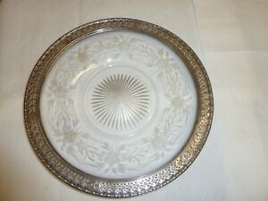 Vintage Sterling Silver Round Reticulated Plate Tray Platter Dish Hallmarked