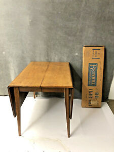 Mid Century Modern Drop Leaf Dining Table Broyhill Saga Danish 60s Walnut 19118