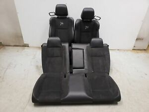 18 Dodge Challenger Seats Front Rear Left Right Black Leather W Suede Oe