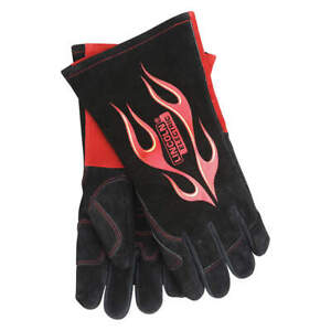 Lincoln Electric Welding Gloves mig stick 13 3 4 l pr Kh783 Black red