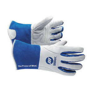 Miller Electric Welding Gloves tig 12 s pr 263346 White blue