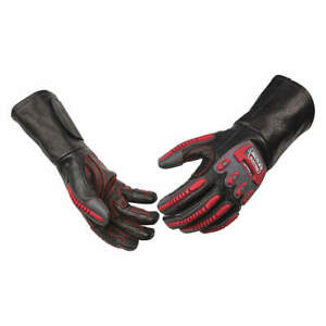 Lincoln Electric Welding Gloves leather Palm 16 L 2xl Sz K3109 2xl Black red