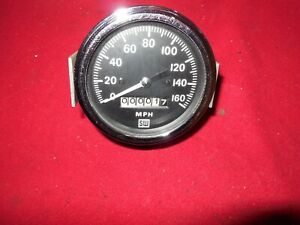 Vintage Stewart Warner 3 1 4 0 160 Mph Speedometer Scta Hot Rod Jeep Freak
