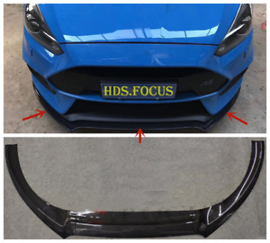 16 18 Carbon Fiber Abs Front Bumper Lip Cover Trims For Ford Focus Rs St