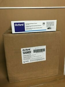 125 ct Oxford Report Cover 3 Fasteners Panel And Border Cover Letter Black