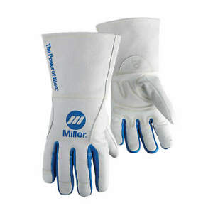 Miller Electric Welding Gloves mig 12 l pr 263333 White blue