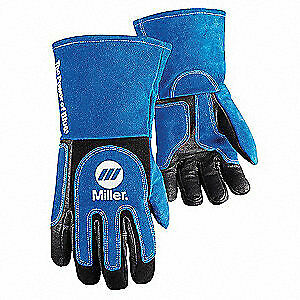 Miller Electric Welding Gloves mig stick 13 l pr 263339 Blue black