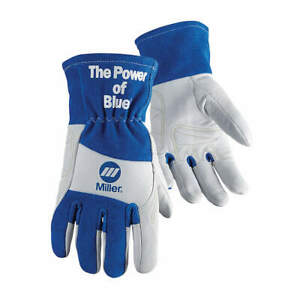 Miller Electric Welding Gloves tig 13 m pr 263353 Blue white