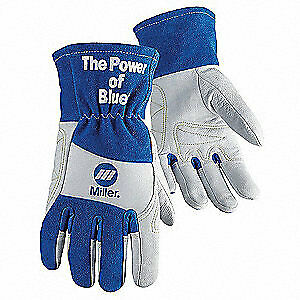 Miller Electric Welding Gloves tig 13 l pr 263354 Blue white