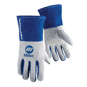 Miller Electric Welding Gloves tig 12 m pr 263347 White blue