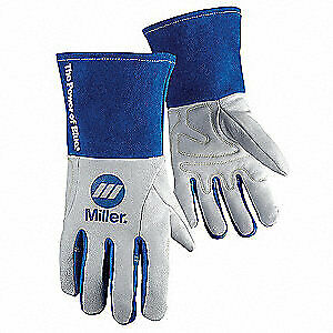 Miller Electric Welding Gloves tig 12 l pr 263348 White blue