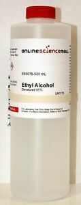 Ethyl Alcohol ethanol 95 Denatured Four 3 8 Liter 1 Gallon Bottles Chemi