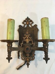 Vintage Brass Market Electric Wall Sconce Candle Light Lamp Antique Lamp