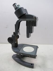 Vintage Bausch Lomb Stereo Zoom Lab Microscope Ed2919 3 Objectives 7 5x 3x 1x