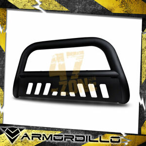 For 2003 Dodge Ram 1500 Matte Black 3 Bull Bar Bull Guard W Skid Plate
