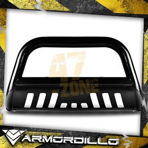 For 2013 Ford Expedition Black 3 Bull Bar Bull Guard W Skid Plate
