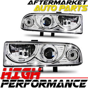 For 2000 Chevrolet Blazer Halo Projector Headlight Chrome Clear