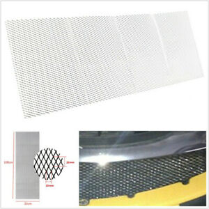 10033cm 40x13 Silver Aluminium Racing Car Vehicle Racing Grille Mesh Vent Net Fits 1955 Ford