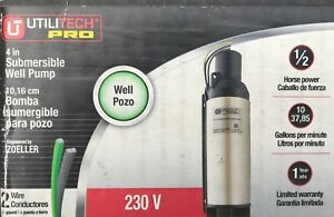 Utilitech Pro 4 1 2 Hp 230 Volt Stainless Steel Submersible Well Pump New