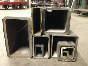 Alloy 304 Stainless Steel Rectangle Tube 3 X 6 X 250 X 48