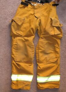 Globe Gxcel Turnout Gear Pants Year 2012 Size 36x34 Firefighter Trousers Nice