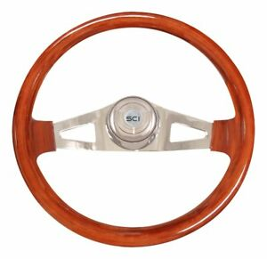 New 18 Inch Pinion Mahogany Steering Wheel Mack Volvo Western Star Marmon