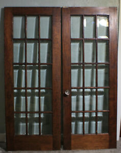 Rare Pair Of Mahogany French Doors All Original Over 100 Years Old