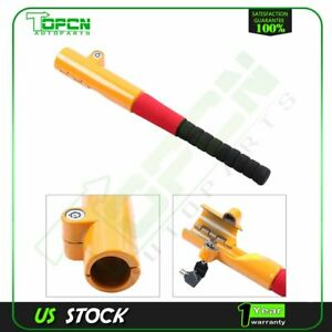 Auto Car Truck Anti Theft Security Rotary Steering Wheel Lock With Keys