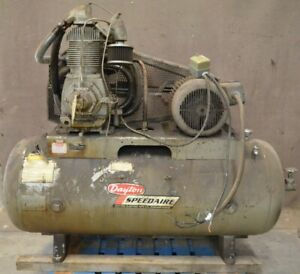 Dayton 3z412 15hp Two stage Air Compressor 3 ph 230 460v 120 Gallon Tank