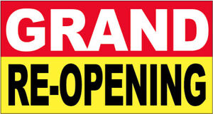 20x48 Inch Grand Re opening Vinyl Banner Sign Ryb