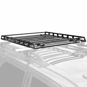 Slim Low Profile Car Roof Storage Rack Cargo Carrier Organizer Basket