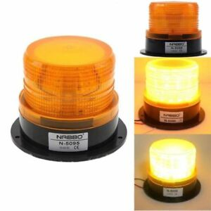 Led Warning Light Vehicle Car Amber Emergency Flashing Strobe Beacon 12v 24v New