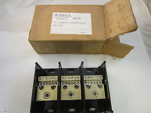 Gould Power Distribution Block 68153 Copper 3 Pole 350 Mcm In 12 4 Awg Out