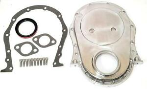 Bbc Big Block Chevy Polished Aluminum Timing Chain Cover Kit 396 402 427 454 New