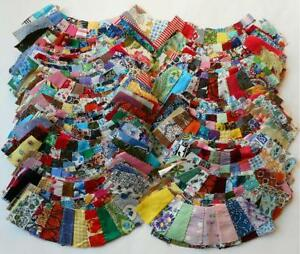 139 Pc Vintage Double Wedding Ring Quilt Blocks Great Variety Wonderful Prints