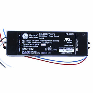 Ge Lighting Lightech 66871 Geld18dmv350pu Dimmable Constant Current Led Driver