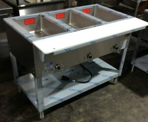 Duke E303sw Aerohot Steam Table W 3 Sealed Wells Hot Food Buffet Carving Board